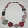 Collana Della Rovere argento 925 pietra di luna, tonalità rosate
