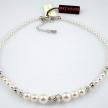 Collana Boccadamo in argento 925 filo di perle e strass GR504