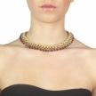 Collana Boccadamo intrecciata oro con Swarovski ametista XGR074D