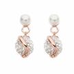 Orecchini Boccadamo in argento 925 argento placcato oro rosa con perle e strass