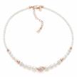 Girocollo Boccadamo in argento placcato oro rosa con perle e strass GR504RS