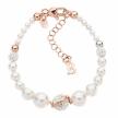 Bracciale Boccadamo in argento 925 oro rosa con perle e strass